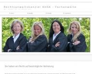 Bild Webseite Rechtsanwälte Lipphardt Uwe, Kurz Christiane , Hohenlohe-Jagstberg Sabine, Schaar Sybille, Kyaw Petra Frankfurt
