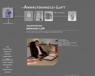 Bild Webseite Rechtsanwalt Johannes Luft Regensburg