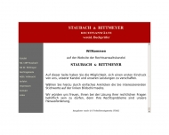 Website Staubach u. Rittmeyer