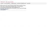 Bild Webseite Traut Rechtsanwälte Hamburg