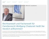 Bild Webseite Chaborski Wolfgang München