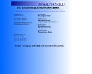 Bild Webseite Rechtsanwälte Grob Dr. Reutlingen
