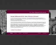 Bild Webseite Dr. Hinze, Mascow & Zerrenner Rechtsanwälte Hamburg