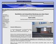 Bild Webseite Rechtsanwalt Gerd Lewin Rechtsanwalt Hannover