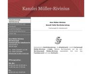 Bild Webseite Rechtsanwalt Uwe Müller-Rivinius Halle