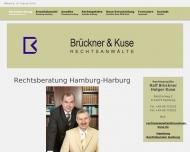 Bild Webseite Rechtsanwälte Brückner & Kuse Hamburg