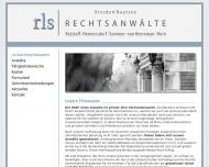 Bild Webseite rls Rechtsanwälte Dresden