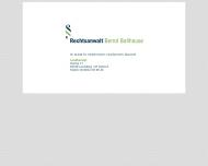 Bild Webseite Rechtsanwalt Bernd Ballhause Halle