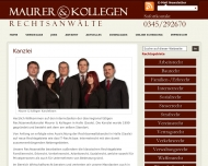Bild Webseite Rechtsanwaltskanzlei Maurer & Kollegen Halle