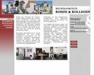 Website Rechtsanwalt Rohde & Kollegen