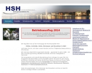 Bild Webseite HSH Unternehmensberatung  und Verwaltungsgesellschaft Hamburg
