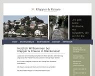 Bild Webseite Klapper Annette Rechtsanwältin Hamburg