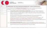 Bild Webseite Rechtsanwälte Urbach Hamburg