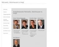 Bild Webseite Petrowitz Heiner , Steinhausen Cornelia u. Voigt Cornelia Rechtsanwälte Flensburg