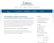 Bild Webseite Rechtsanwälte Urban Dortmund