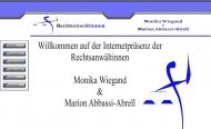 Bild Webseite Rechtsanwältinnen Marion Abbassi-Abrell und Monika Wiegand München