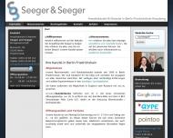 Bild Webseite Anwaltskanzlei und Notariat Seeger und Seeger Berlin