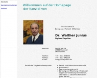 Bild Webseite Junius Walther Dr. Dipl.-Phys. Patentanwalt Hannover