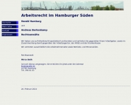 Bild Webseite Humburg, Behnken, Beth, Berkenkamp Rechtsanwälte Hamburg