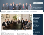 Website Rechtsanwälte Walter, Thummerer, Endler & Collegen