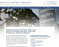 Bild Webseite Rechtsanwaltskanzlei Magold, Walter & Hermann Nürnberg
