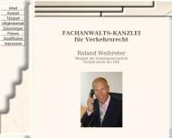 Bild Webseite Rechtsanwalt Roland Weihreter Nürnberg