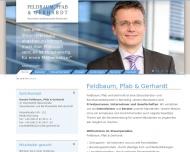 Bild Webseite Feldbaum, Pfab & Gerhardt Steuerberater und Rechtsanwälte Partnerschaft Nürnberg