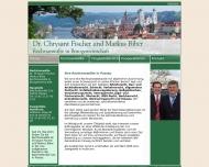 Bild Webseite Rechtsanwaltskanzlei Fischer • John • Hohl Passau