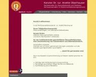 Bild Webseite Dr. Anette Oberhauser Rechtsberatung und Mediation Nürnberg