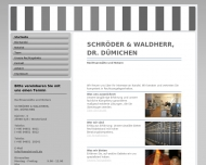 Bild Webseite Waldherr Matthias , Schröder Eggert , Dümichen Falk Dr. Rechtsanwälte und Notare Sylt-Ost