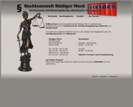 Bild Webseite Mock R. Rechtsanwaltsbüro Halle
