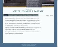 Bild Webseite Geyer , Fehners Patentanwälte München