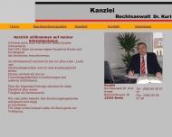 Bild Webseite Rechtsanwalt Dr. Kurt Knabe Berlin