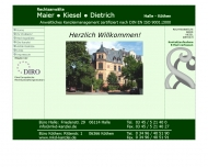 Bild Webseite Rechtsanwälte Maier Kiesel Dietrich Halle