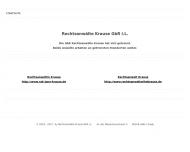 Bild Webseite Krause Rechtsanwaltskanzlei Halle