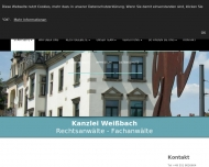 Bild Webseite Bullin , Weißbach Rechtsanwälte Dresden