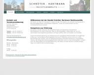 Bild Webseite Schröter · Hartmann Rechtsanwälte Hamburg