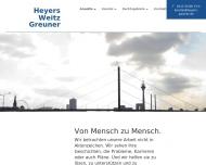 Bild Webseite Heyers Dr. & Weitz Rechtsanwälte Düsseldorf