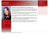 Bild Webseite Rheinfels Monica Rechtsanwältin Berlin