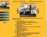 Bild Webseite Kettel Holger Rechtsanwalt Berlin