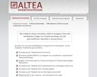 Bild Webseite Altea Köln