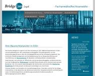Bild Webseite Rechtsanwälte Hencinski & Jung Köln