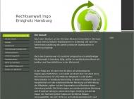Bild Webseite Ingo Emigholz -Rechtsanwalt- Hamburg