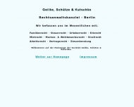 Bild Webseite Geilke Thomas , Schütze Christian D. u. Kutschke Diana Rechtsanwälte Berlin
