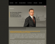 Bild Webseite Rechtsanwaltskanzlei Malke Dresden