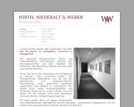 Bild Webseite Rechtsanwälte Niederalt Dietrich , Wirth Rainer, Weber Jens-Peter, Schmitt Carolin Nürnberg