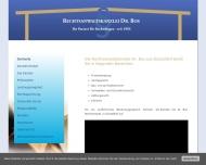 Bild Webseite Rechtsanwalt Dr. Rolf - Wilfried Bos Düsseldorf
