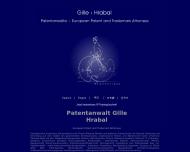 Bild Webseite GILLE HRABAL STRUCK NEIDLEIN PROP ROOS Patentanwälte - European Patent Attorneys Düsseldorf