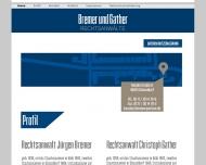 Bild Webseite Bremer Jürgen Rechtsanwalt Düsseldorf