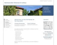 Bild Webseite Suthaus Frank Rechtsanwalt Göttingen